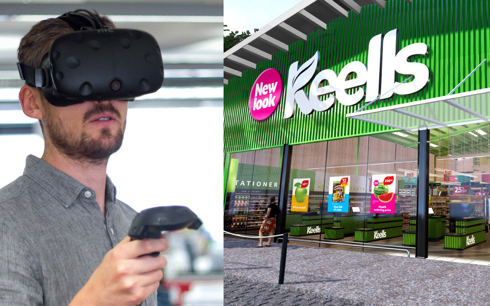 VR of Keells supermarket store front